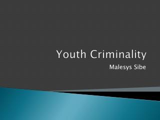Youth Criminality