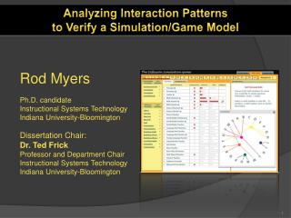 Analyzing Interaction Patterns to Verify a Simulation/Game Model