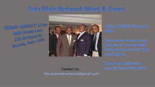 Zeta Male Network Meet & Greet