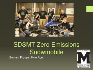 SDSMT Zero Emissions Snowmobile