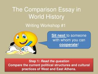 The Comparison Essay in World History