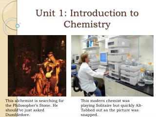 Unit 1: Introduction to Chemistry