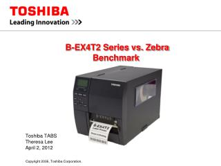 B-EX4T2 Series vs. Zebra  Benchmark