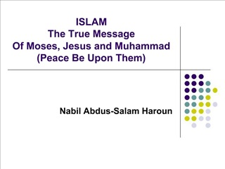 ISLAM The True Message Of Moses, Jesus and Muhammad Peace Be Upon Them