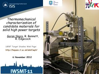 Thermomechanical  characterization of candidate materials for solid high power targets