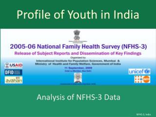 Profile of Youth in  I ndia