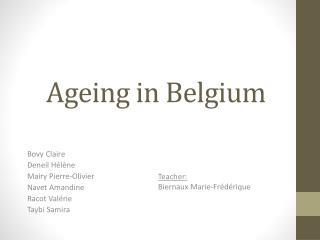 Ageing in  Belgium