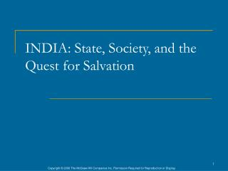 INDIA: State, Society, and the Quest for Salvation