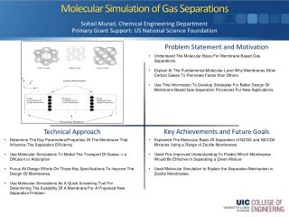 Molecular Simulation of Gas Separations