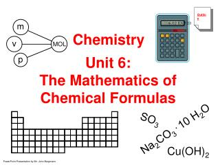 Unit 6: The Mathematics of Chemical Formulas