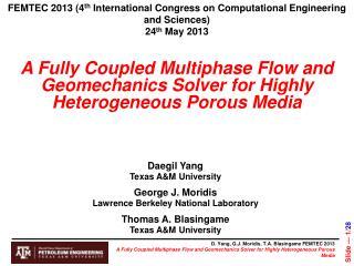 FEMTEC 2013 (4 th  International Congress on Computational Engineering and Sciences)