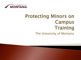 Protecting Minors on Campus Training