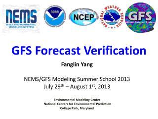 GFS Forecast Verification