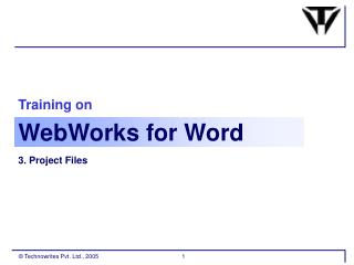 Training on Webworks For Word Part 2