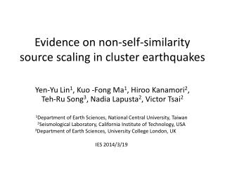 Evidence on non-self-similarity source scaling in cluster earthquakes