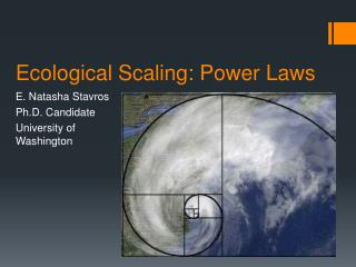 Ecological Scaling: Power Laws