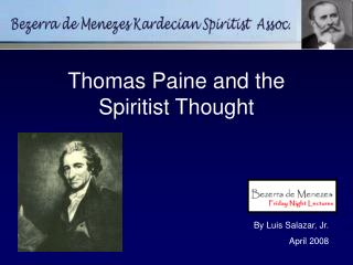 Thomas Paine and the Spiritist Thought