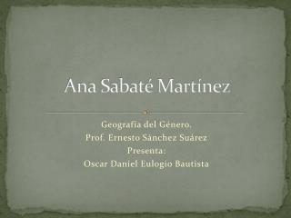 Ana Sabaté Martínez