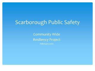 Scarborough Public Safety