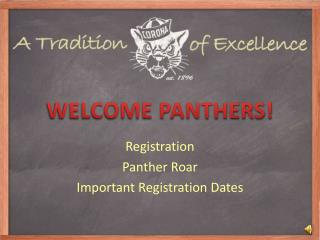 WELCOME PANTHERS!