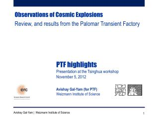 Observations of Cosmic Explosions Review, and  results from the Palomar Transient Factory