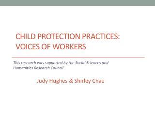 Child Protection Practices: Voices of Workers
