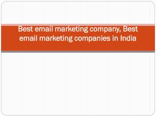 Best email marketing company, Best email marketing companies