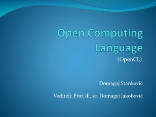 Open Computing Language