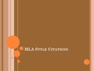 MLA Style Citations