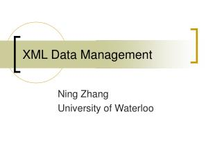 XML Data Management