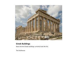 Greek Buildings