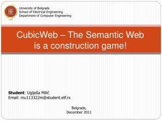 CubicWeb  – The Semantic Web is a construction game!