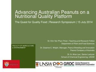 Advancing Australian Peanuts on a Nutritional Quality Platform