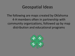 Geospatial Ideas
