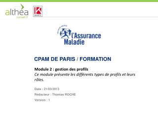 Cpam  de paris / formation