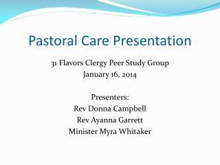 Pastoral Care Presentation