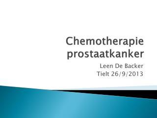 Chemotherapie prostaatkanker