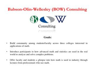 Babson-Olin-Wellesley (BOW) Consulting