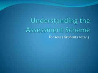Understanding the Assessment Scheme