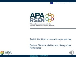 Audit & Certification: an auditors perspective