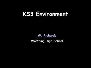 KS3 Environment