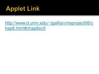 Applet Link