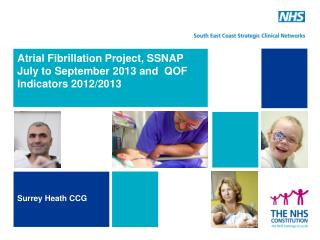 Atrial Fibrillation Project, SSNAP July to September 2013 and  QOF Indicators 2012/2013