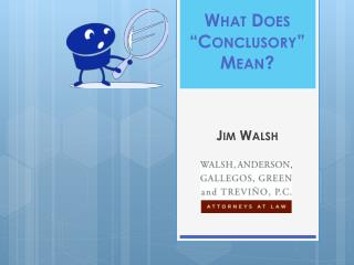 What Does � Conclusory � Mean?