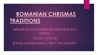 ROMANIAN CHRISMAS TRADITIONS