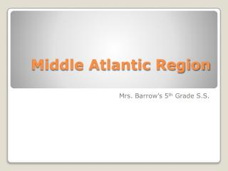 Middle Atlantic Region
