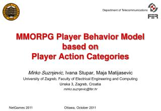 MMORPG Player Behavior Model based on  Player Action Categories