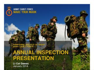 ANNUAL INSPECTION  PRESENTATION