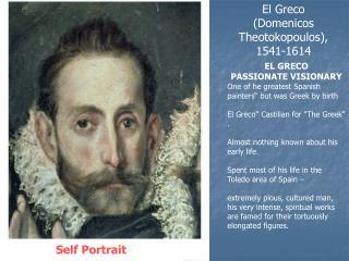 El Greco (Domenicos Theotokopoulos), 1541-1614