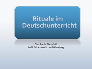 Rituale im Deutschunterricht
